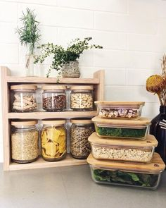 The Most Creative Kitchen Supply Ideas 2019 Kitchen Pantry Ideas - Rossana Home Design, Pantry Organisation, Kitchen Organization, Kitchen Storage, Kitchen Decor, Kitchen Design, Pantry Ideas, Pantry Storage Containers, Plastic Containers, Casa Clean