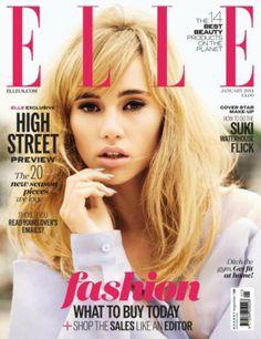 Hallo, January – this month's newsstands Elle UK January 2014 ¦ Suki Waterhouse | Fash Mob