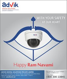 Your #safety is very important and special to us at Advik. Protecting you always with the best in class HD #CCTV #cameras manufactured in India.