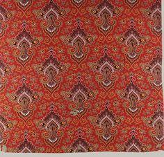 Persian Shah printing on cotton, Russian, Metropolitan Museum of Art Textiles, Textile Prints, Textile Design, British History, Art History, Creepy Backgrounds, Blood Wallpaper, Russian Art, Russian Style