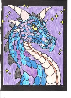 Laurie (12 - 18 division) from Legendary Dragons Stained Glass Coloring Book: http://store.doverpublications.com/0486462242.html