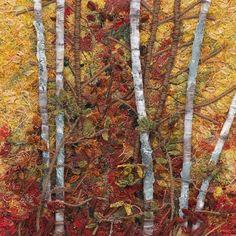 Thread painting fiber art by amber