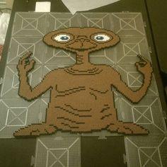 E.T. (film character) perler beads by Michelangelo