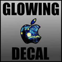 Glowing Starry Night Apple Led Logo Overlay Macbook Macbook Pro Custom Apple Logo Class Mac Book Decal Vinyl Led Custom Colors Sticker