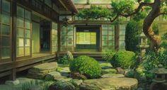 The Wind Rises - Miyazaki Studio Ghibli Background, Animation Background, Art Background, Seshomaru Y Rin, The Garden Of Words, Casa Anime, Wind Rises, Traditional Japanese House, Studio Ghibli Art