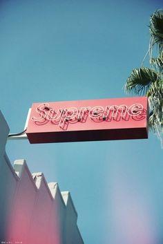 Supreme neon sign, Miami, USA