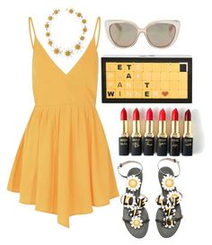 Yellow changes everything by pulseofthematter on Polyvore featuring polyvore fashion style Glamorous Valentino Jimmy Choo Dolce&Gabbana L'Oréal Paris women's clothing women's fashion women female woman misses juniors