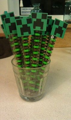 Minecraft Party Favors | Birthday Party Ideas for Boys | DIY Minecraft Party Food Ideas Birthdays