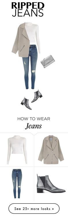"""Ripped Jeans"" by evitheemu on Polyvore featuring River Island, A.L.C., Acne Studios and MICHAEL Michael Kors"