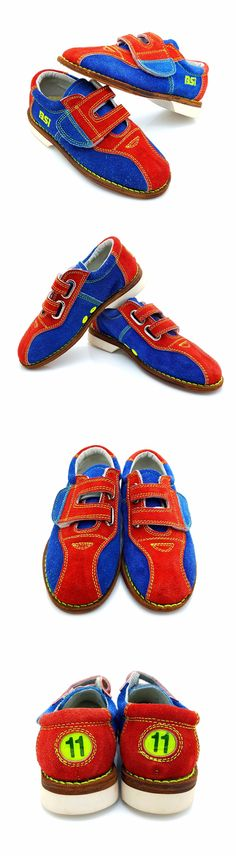 Youth 159108: ****Kids Bowling Shoes**** Size 11 Boys Girls New Bsi Red And Blue Vintage Suede BUY IT NOW ONLY: $40.0