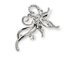 Beautiful Swarovski Flower Brooch Pin Bouquets Crystal Rhinestone & Alloy ZX12
