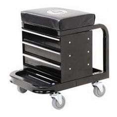 Omega 92450 Black Tool Box Creeper 3 Drawer Toolbox With Front And Back Tool Trays Four polyurethane, oil resistant, full bearing casters for easy movement 450 lb rated capacity Overall dimensions x x Diy Tools, Hand Tools, Crafting Tools, Mechanic Tool Box, Camper Awnings, Tool Storage, Drawer Storage, Garage Storage, Drawer Fronts