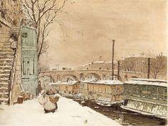 Tavík František Šimon (1877-1942), Paris, Pont Marie en Hiver - 1923