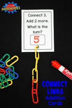 Connect Links Addition Cards are a hands-on and visual way for children to practice adding and develop fine motor skills.