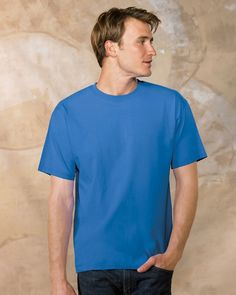 878393c8 Hanes Cotton Tagless Tee says style and comfort. Made from 6.1 oz. 100%