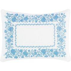 Laura Ashley Lifestyles Olivia Floral Breakfast Pillow (47 CAD) ❤ liked on Polyvore featuring home, home decor, throw pillows, blue, blue home decor, laura ashley throw pillows, laura ashley home decor, floral throw pillows and embroidered throw pillows