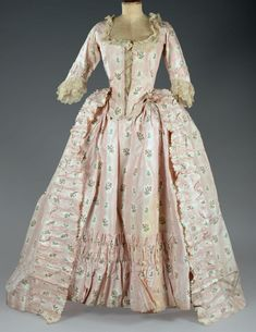 Fashion and Costume History     – fripperiesandfobs:     Robe à l'anglaise ca. 1760 ...