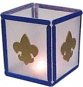 Cub Scout Blue and Gold Candle Centerpiece