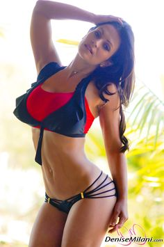 ATHLETIC PHYSIQUE of Czech #Fitness & figure model Denise Milani : if you LOVE Health, Workout Inspiration & Body Goals - you'll LOVE the #Motivational designs at CageCult Fashion: http://cagecult.com/mma