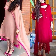 Shop salwar suits online for ladies from BIBA, W & more. Explore a range of anarkali, punjabi suits for party or for work. Salwar Designs, Kurti Designs Party Wear, Designer Kurtis, Indian Designer Suits, Indian Attire, Indian Wear, Indian Outfits, Stylish Dresses, Simple Dresses