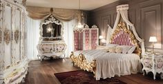 Bedroom:Pretty French Bedroom Theme Decorations Ideas Luxury French Style Bedroom Decor Ideas Showing Classy White Bedroom Furniture Plus Unique Chandelier Also Elegant Vanity And Gold Frame Bed Using Pink Tufted Portable Wall Divider