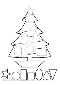 Christmas Tree Cut and Paste Activity - great idea!