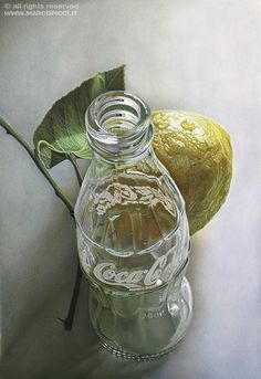 I love the perspective of this painting...it is truly talent to be able to show glass as if it were truly glass. This reminds me of 10th grade Mrs. Gaithers art class. 1995!!