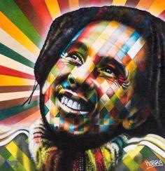 Bob Marley by Eduardo Kobra #streetart jd