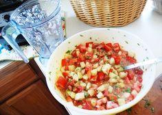 tomato + tomatillo salsa
