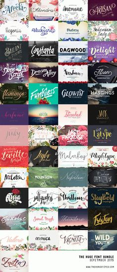 Save 20% on The Hungry JPEG's HUGE September Font Bundle with Code Smiles20! | Where The Smiles Have Been