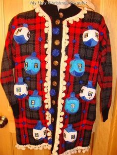todaysinfo The 25 Absolute Best Ugly Christmas Sweaters You've Never Seen Before. Ode to the Ugly Christmas Sweater The holiday season is upon us, which means one thing: Ugly Christmas Sweater parties. Ugly Hanukkah Sweater, Best Ugly Christmas Sweater, Ugly Sweater Party, Holiday Sweaters, Feliz Hanukkah, Hannukah, Happy Hanukkah, Holiday Wear, Holiday 2014