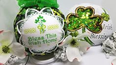 St. Patrick's Day Quilted Keepsake Ornament Bless This Irish House by OrnamentsByRebeccaT on Etsy https://www.etsy.com/listing/511837511/st-patricks-day-quilted-keepsake