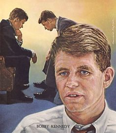 """The cover story was titled, """"Civil Rights: The Moral Crisis"""" and explored the efforts of the Kennedy administration to promote and protect civil rights in the United States. The cover painting shows President John F. Kennedy and his brother US Attorney General Robert Kennedy in deep conversation on the use of the National Guard to remove protesters (led by George Wallace) in order to allow two black students to attend classes at the University of Alabama."""