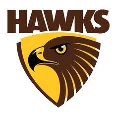 Hawthorn Hawks AFL Large Vinyl Wall Logo Decal Emblem Sticker Crest Poster