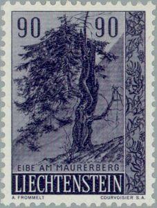 Sello: Yew (Liechtenstein) (Trees and bushes) Mi:LI 373,Yt:LI 335,Zum:LI 317