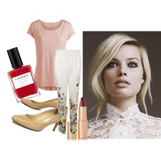 Margot Robbie by surrealkitten on Polyvore featuring moda, Pieces, Gucci, Jimmy Choo and Charlotte Tilbury