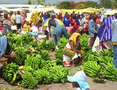 Banana vendors in Manyara, Tanzania Photo by Dan Giveon
