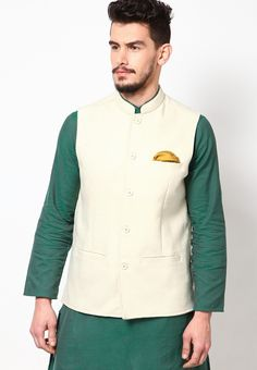 White Ethnic Jacket at $54.34 (24% OFF)