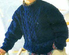 [Tricot] Le pull irlandais bleu - La Boutique du Tricot et des Loisirs Créatifs                                                                                                                                                                                 Plus