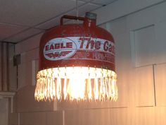 Gas Can Chandelier  www.TheRedCadillacNJ.com