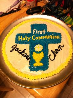 Jackson and Chan First Holy Communion Sugar Cookie