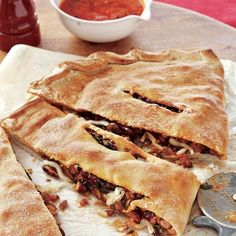 Easy Recipes for Ground Beef   Beefy Calzones   AllYou.com