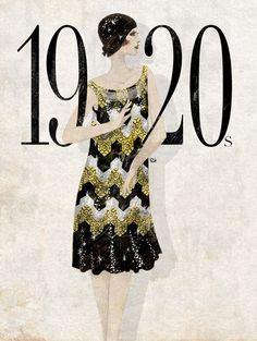 Década dourada, do querido vintage: 1920!