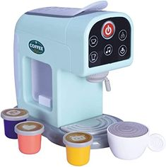 Oojami My First Kitchen Appliance Coffee Maker Set Includes Coffee pods Realistic Sounds and Lights Makes an Ideal Gift for Kids Baby Dolls For Kids, Little Girl Toys, Baby Girl Toys, Toys For Girls, Kids Toys, Barbie Doll Set, Barbie Doll House, Barbie Toys, Kitchen Sets For Kids