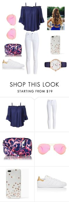 """""""Summer getaway"""" by summer0705 ❤ liked on Polyvore featuring LE3NO, Barbour, Vera Bradley, Ray-Ban, Kate Spade and adidas"""