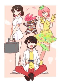 Emu(Kamen Rider Ex-Aid) and Asuna(Poppy) Kamen Rider Ex Aid, Kamen Rider Zi O, Kamen Rider Series, Manga Anime, Anime Art, Iron Man Wallpaper, Anime Rules, Asuna, Dragon Art