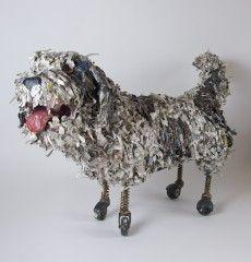 paper mache shaggy dog