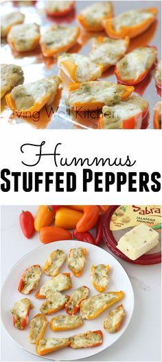 Hummus stuffed peppe