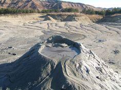 The Muddy Volcanoes, Buzau county, Romania