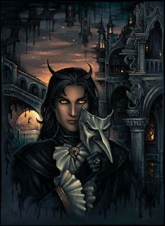 Demon in Venice by Candra.deviantart.com on @deviantART Ross- under the guise of friendship